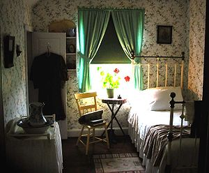 "Green Gables (Prince Edward Island) - ""Anne's Room"", one of several rooms in the farmhouse which have been named by Parks Canada after settings in Montgomery's novels."