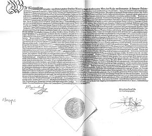 Grumbach Feud - Imperial ban signed on 13 May 1566 by Emperor Maximilian II against Duke John Frederick II