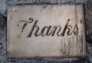 Gratitude - New Orleans: Thank you message in the grotto of Our Lady of Guadalupe Church; added by those for whom prayer or miracles were granted