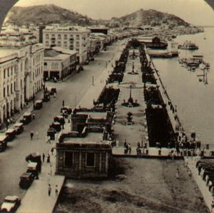 Guayaquil - Guayaquil's waterfront around 1920.
