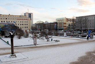 Wrzeszcz - Grunwaldzka street in Gdańsk Wrzeszcz, Dec 2003