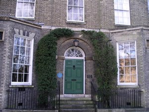 Silver Street, Cambridge - View of Newham Grange on Silver Street,  Gwen Raverat's childhood home.