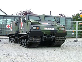 Bandvagn 206 - An armored Bv206S ambulance of the German Army
