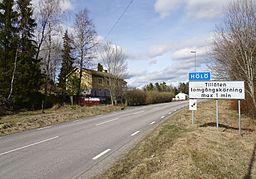Den sydlige indkørsel til Hölö, 2017
