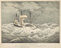 H.M.S. Vengeance Captain Lord E Russell in a Gale of wind off Malta Feby 1st 1852 RMG PY0833.jpg
