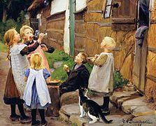 汉斯安徒生马力奇力丹麦画家Hans Andersen Brendekilde (Danish, 1857–1942) - 文铮 - 柳州文铮