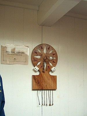 Traverse board - Traverse board of the replica sailing ship Götheborg.