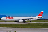 "HB JHE Airbus A330-343 A333 C N 1084 - SWR ""Fribourg"" (29976993077).jpg"