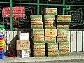HK Aberdeen Main Road 香港仔大道 行車天橋底 Paper Cardboard boxes 紙皮箱 Del Monte Foods.JPG