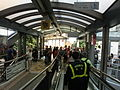 HK Central Escalators interior visitors n Security staff at 10am changing everyday Oct-013 (4).JPG