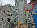 HK Sai Ying Pun 西營盤 High Street Long Vehicle sign view Kau Yan Church n School facades April 2013.JPG