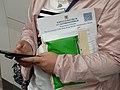 HK WC Wan Chai 灣仔站 MTR Station visitor holding document of Hong Kong April 2021 SS2.jpg