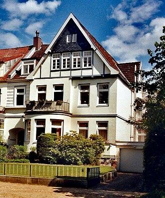 Fritz von Loßberg - He retired to this house in Lübeck