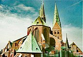 St. Marien zu Lübeck, wie es auch zu Bachs Zeiten aussah (Quelle: Wikimedia)