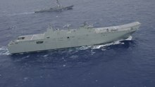 File:HMAS Canberra (L02) - Forty Ships and Submarines Steam in Close Formation During RIMPAC.ogv
