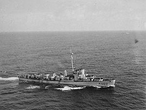 HMS Mounsey 1944 IWM FL 16484