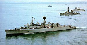 HMS Norfolk USS Claude-V-Ricketts(DDG-5) HNLMS De-Ruyter DN-SC-82-08446.jpg