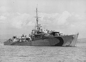 HMS Venus (R50) - Image: HMS Venus 1943 IWM FL 20930