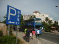 HN SanYa YaLong Bay car park and bus stop n Holiday Inn.jpg