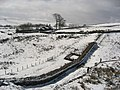Hadrian's Wall and turret near Peel (2) - geograph.org.uk - 747351.jpg