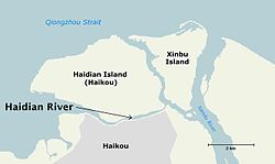 Haidian River, Haikou, Hainan - map 01 lq.jpg