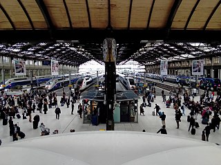 Gare de Lyon train station in Paris, France