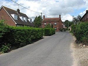 Hevingham - Image: Halls Corner Road geograph.org.uk 519155
