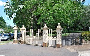 Hamilton, Victoria - The gates to the Hamilton Botanical Gardens