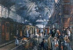 Hans von Faber du Faur Bahnhof Den Haag Hollands Spoor.jpg