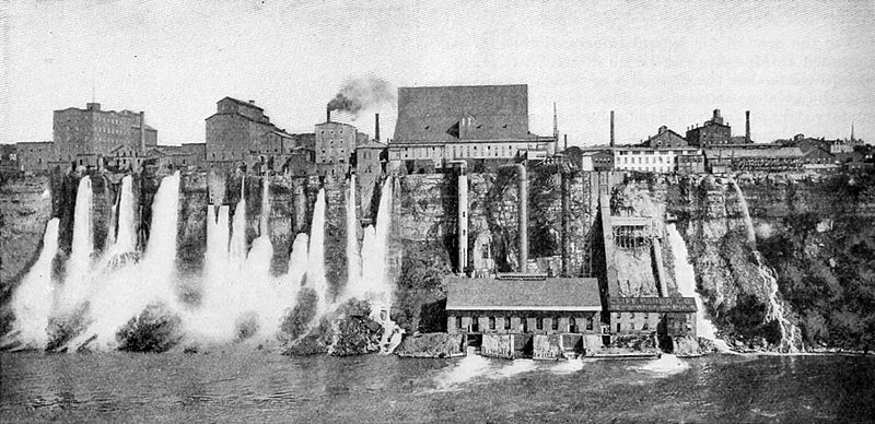 Tesla Canada Wikipedia: File:Harnessing The Niagara River's Power In Niagara Falls