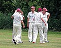 Hatfield Heath CC v. Takeley CC on Hatfield Heath village green, Essex, England 05.jpg
