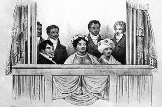 Kamāmalu - In the royal box at London, 1824