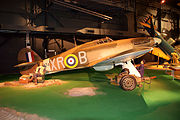 Hawker Hurricane MkIIa RSide light Early Years NMUSAF 25Sep09 (14413451367).jpg