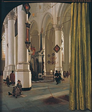 Hendrick Cornelisz. van Vliet - Nieuwe Kerk, Delft, c.1650 with tomb of William the Silent.