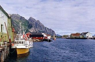 Henningsvær - The harbor of Henningsvær