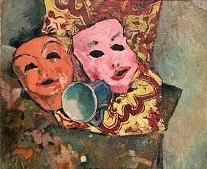 Henoch Barczyński - The Masks, painting by Henryk Barczyński