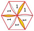 Hexahexaflexagon mit mehrern durchgehenden Daumenspalten.png