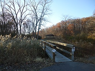 Kickapoo State Recreation Area - Trail in Kickapoo State Park near High Pond