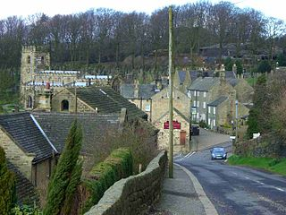 High Bradfield Village in South Yorkshire, England