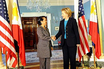 Hillary Clinton with Gloria Macapagal-Arroyo 2-6-09