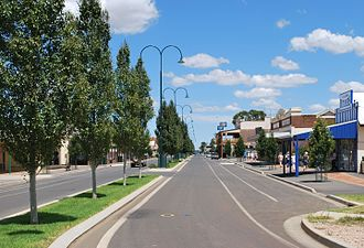 Hillston, New South Wales - High Street, the main street of Hillston