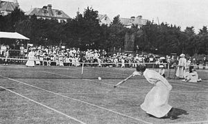 Charlotte Cooper (tennis) - Charlotte Cooper Sterry vs Blanche Bingley Hillyard at Eastbourne