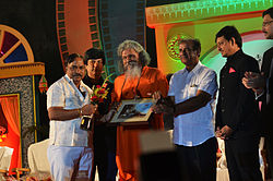 Mahapatra (2nd from right) during the Odisha State Film Awards 2014 at Utkal Mandap, Bhubaneswar, Odisha
