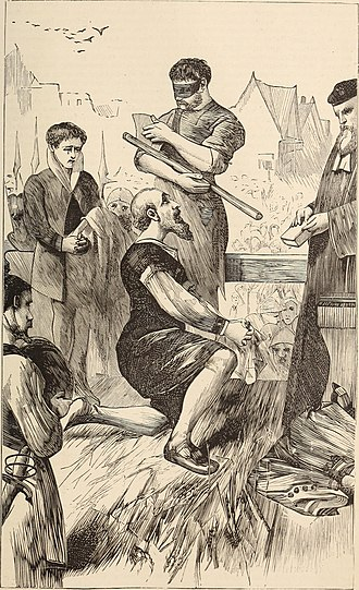 Thomas More - Beheading of Thomas More, 1870 illustration