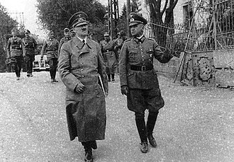 Walter Heitz - Hitler touring the WWI battlefields near Arras with Heitz, 17 May, 1940