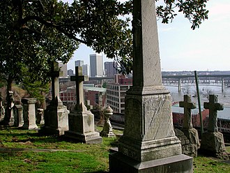 Hollywood Cemetery (Richmond, Virginia) - Image: Hollywood Cemetery With Skyline and River