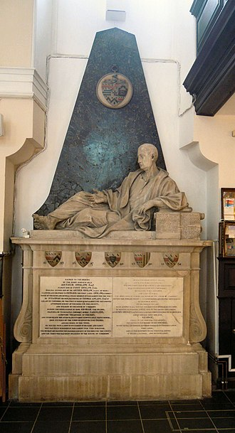 Arthur Onslow - Onslow's memorial in Holy Trinity Church in Guildford