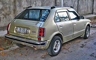 Honda Civic (first generation) - Image: Honda Civic Hi Deluxe (rear)