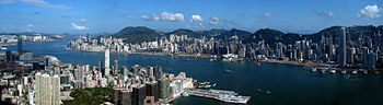 Hong Kong Victoria Harbour Pano View from ICC 201105.jpg