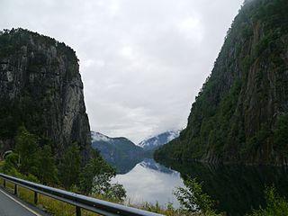 Hordaland County (fylke) of Norway